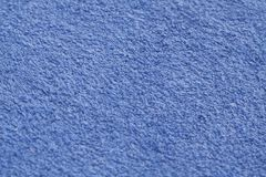 Blå närbild för färghanddukyttersida med suddighetseffekt Royaltyfri Bild