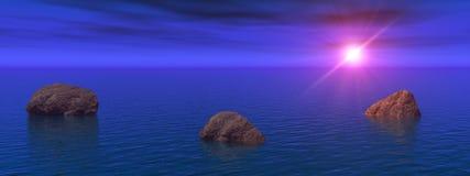 blå natt Royaltyfri Foto