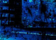 blå natt Royaltyfri Bild