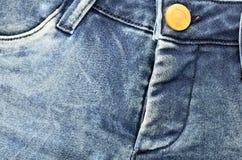 Blå naturlig jeans för varma flåsanden för grov bomullstvill Fotografering för Bildbyråer