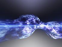 blå nebula Arkivbilder