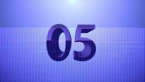blå nedräkning för 10 sekunder teknologi stock illustrationer