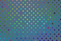 Blå neonhologramtextur Abstrakt regnbågsskimrande mosaikmodell stock illustrationer