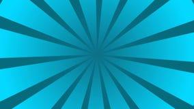 Blå och Cyan sunburst cirkel- och bakgrundsmodellanimering vektor illustrationer