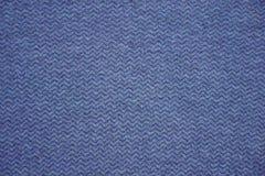 Blå och grå tygtextur Blå och grå torkdukebakgrund Stäng sig upp sikt av blått och gråna tygtextur och bakgrund Arkivbild