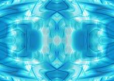Blå och grön bakgrund för förkylning Arkivbild