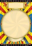 Blå och gul affisch för tappning. Royaltyfri Foto