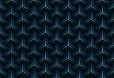 Blå och guld- geometrisk modellbakgrund för abstrakt sömlöst lyxigt mörker - royaltyfri illustrationer