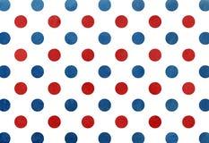 Blå och röd prickbakgrund för vattenfärgmörker - Arkivbilder