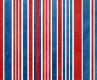 Blå och röd randig bakgrund för vattenfärgmörker - Royaltyfri Foto