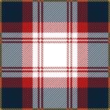 Blå och röd sömlös skotsk modell för tartanpläd Vektor Illustrationer