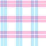 Blå och rosa tartanmodell Arkivbilder
