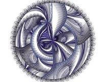 Blå och svart fractal Royaltyfria Bilder