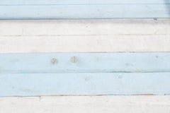 Blå och vit bakgrund, marin- tema målat bräde Arkivbild