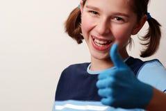 blå okay Fotografering för Bildbyråer