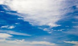 blå oklarhetssky Royaltyfri Fotografi