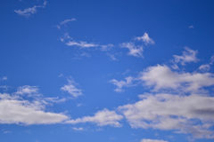blå oklarhetssky Royaltyfri Bild