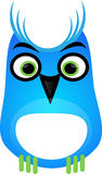 blå owl vektor illustrationer