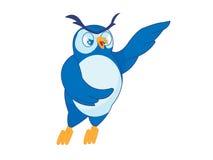 blå owl Arkivbild