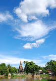blå pagodasky Royaltyfri Fotografi