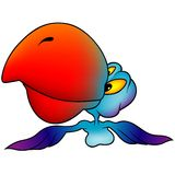 blå papegoja Arkivbilder