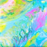Blå pastellfärgad akryl häller målning royaltyfri illustrationer