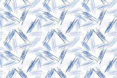 Blå Pen Doodles sömlös texturbakgrund royaltyfri illustrationer