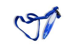 blå penna Royaltyfri Foto