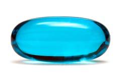 blå pill Royaltyfri Fotografi