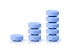 blå pill för växande marknad för begäran Royaltyfria Bilder