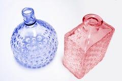 blå pink för flaskexponeringsglas Arkivfoto
