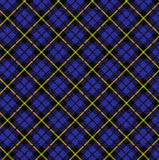 blå pläd Royaltyfri Bild