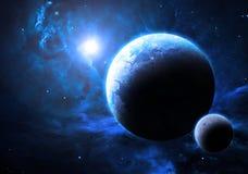 Blå planet - beståndsdelar av denna bild som möbleras av NASA Royaltyfri Foto