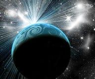 Blå planet i utrymme Royaltyfri Foto