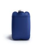 Blå plast- illustration för bensindunk 3d på en vit Arkivbilder