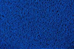 Blå plast- matta Arkivfoto