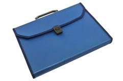 blå plastic portfölj Arkivbild