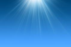 blå plats för ljusa strålar Arkivfoto