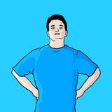 blå pojke Arkivfoto