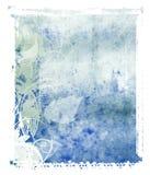 blå polaroidöverföring för bakgrund Fotografering för Bildbyråer