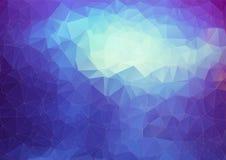 Blå polygonal abstrakt bakgrund Royaltyfria Bilder