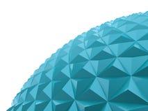 Blå polygonal sfär Royaltyfri Fotografi