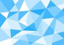 Blå polygonbakgrund för pastellfärgad färg Arkivfoton