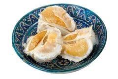 blå pomelo för maträttfruktprydnad Royaltyfria Foton