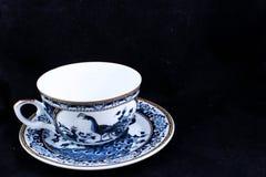 Blå porslinkopp Arkivfoto