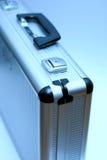blå portföljmetall Arkivfoto