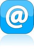 blå post för e-symbolsillustration Arkivbild