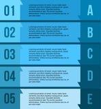 Blå presentationsmall för blandning Arkivfoto