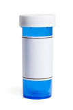 Blå preventivpillerflaska Royaltyfria Foton
