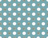 Blå prickig bakgrund för vit och för silver Royaltyfri Bild